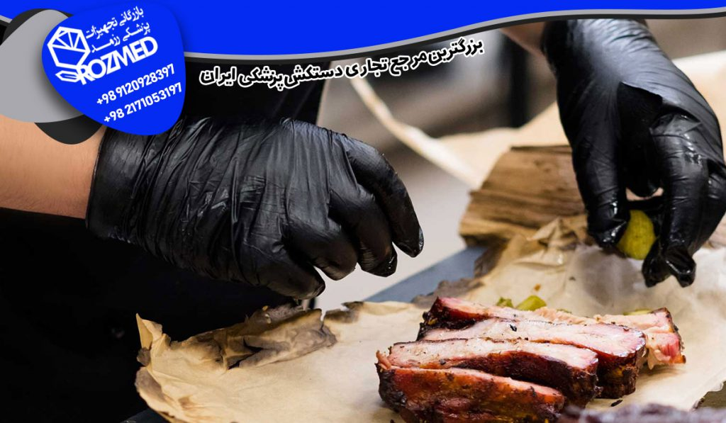 دستکش آشپزی دستکش نیتریل مشکی