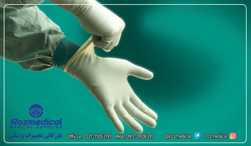 دستکش لاتکس جراحی دستکش استریل جراحی دستکش یکبار مصرف جراحی